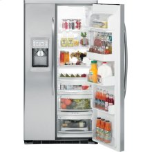 PSDW3YGXSS - GE Profile™ Energy Star® 23.2 Cu. Ft. Stainless-Wrapped Side-by-Side Refrigerator