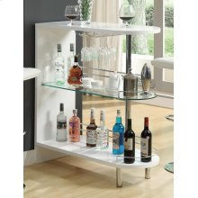 Contemporary Glossy White Bar Table
