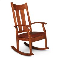Newton Rocker with Cushion Seat, Leather Cushion Seat Product Image