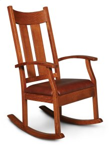 Newton Rocker with Cushion Seat, Leather Cushion Seat