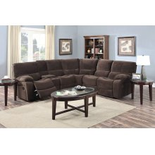 Ramsey Chocolate Recliner Sectional, M6052