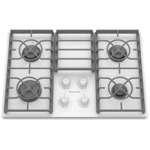 KitchenAid30-Inch 4 Burner Gas Cooktop, Architect® Series II - White