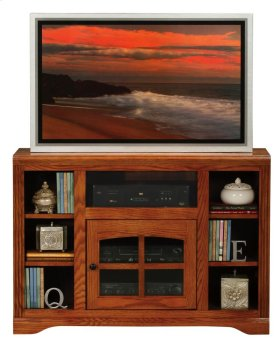 Thin-Screen TV Cart with Bookcase Sides
