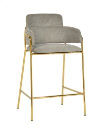 Karl Grey Linen Counter Stool - Set of 2
