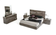Modrest Picasso Italian Modern Grey Lacquer Bedroom Set