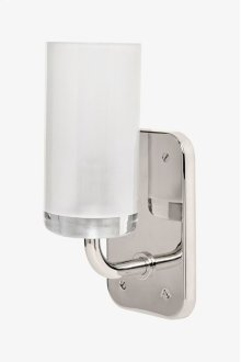 Ludlow Wall Mounted Single Arm Sconce with Glass Shade STYLE: LDLT01