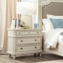 Huntleigh - Three Drawer Nightstand - Vintage White Finish