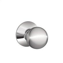 Orbit Knob Hall & Closet Lock - Bright Chrome