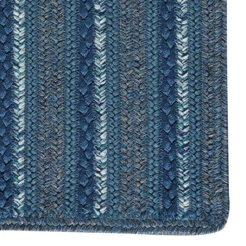 Woodbridge Coastal Blue Braided Rugs