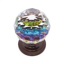 Old World Bronze 40 mm Round Prism Knob