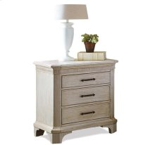 Aberdeen Three Drawer Nightstand Weathered Worn White finish