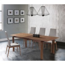 Armen Living Parker Mid-Century Walnut Wood 5 Piece Dining Set Product Image