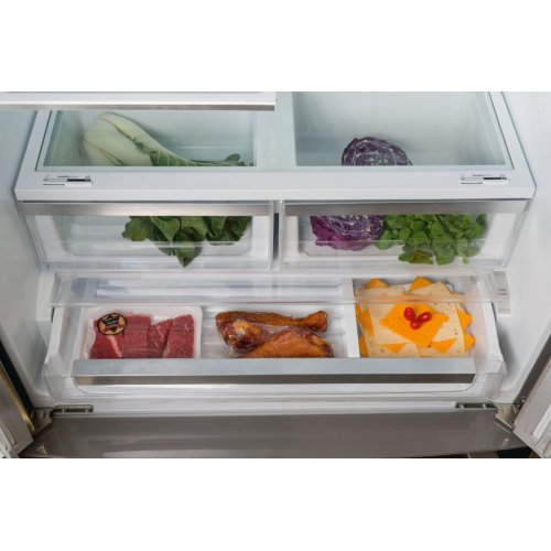 "800 Series 36"" Counter Depth French Door Bottom Freezer 800 Series - Stainless Steel B21CL81SNS"