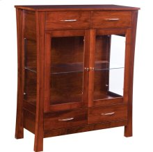 2 Door Dining Chest with Plain Glass