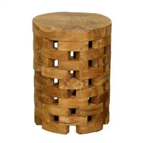 Barrel End Table, Natural