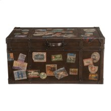 Accents Saddle Travel Trunk Cocktail
