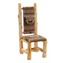 High-back Side Chair - Natural Cedar - Standard Fabric