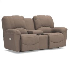 Hayes PowerRecline La-Z-Time® Full Reclining Loveseat w/ Console and Power Headrest