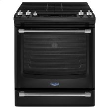 Black Ice Maytag® 5.8 cu. ft. Front Control Gas Range with the FIT System