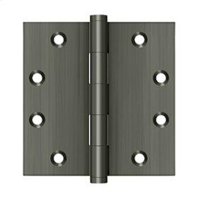 """4 1/2"""" x 4 1/2"""" Square Hinges - Antique Nickel"""