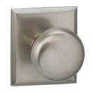 Interior Traditional Knob Latchset with Rectangular Rose - Solid Brass in TB (Tuscan Bronze, Lacquered) Product Image