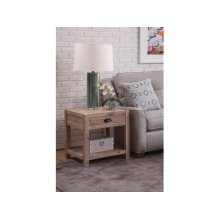 End Table in Gray Wash