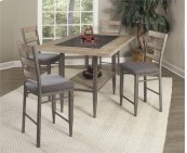 D312-25/37  Rectangular Counter Height Table and 4 Stools
