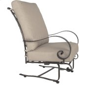High-back Spring Base Lounge Chair