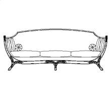 Empire Style Sofa (Mahogany/Velvet Fuchsia)