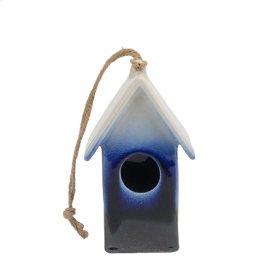 Blue/white Ombre Birdhouse