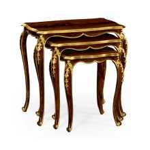 Nesting Tables with Gilt Carved Detailling