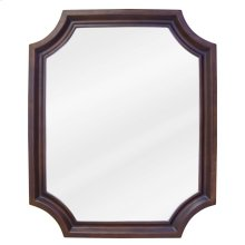 "22"" x 27"" Toffee mirror with beveled glass"