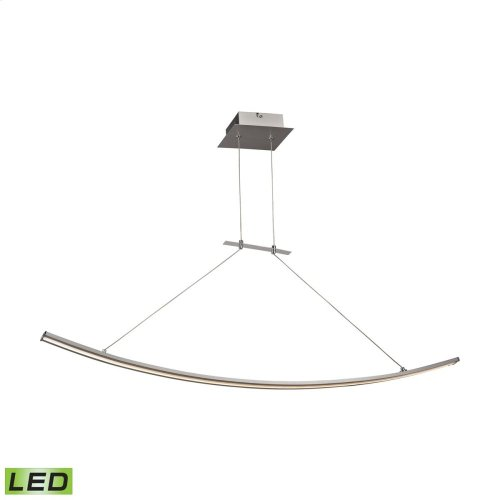 Bow 1-Light Island Light in Aluminum with White Polycarbonate Diffuser - Integrated LED