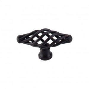 Oval Small Twist Knob 2 1/8 Inch - Patina Black