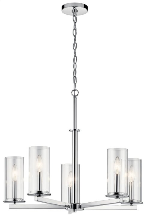 Crosby 5 Light Chandelier Chrome