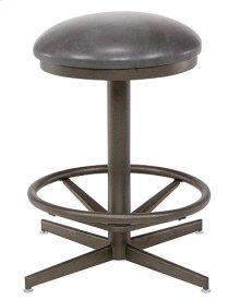 Backless Swivel Stool (bronze)