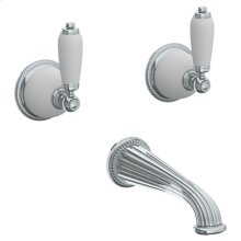 Wall Mounted 3 Hole Bath Set