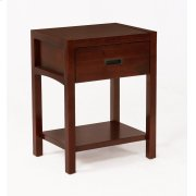Reisa Solid Wood Night Stand - Espresso Brown Product Image