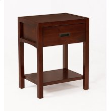 Reisa Solid Wood Night Stand - Espresso Brown