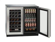 "36"" Beverage Center Integrated Solid Double Doors"