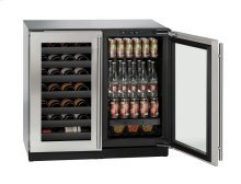 """***U-3036BVWCINT-60B ***36"""" Beverage Center Integrated Solid Double Doors ****ONLY AVAILABLE AT OUR OKLAHOMA CITY LOCATION****"""