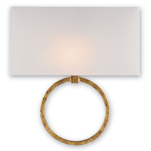 Porthole Gold Wall Sconce