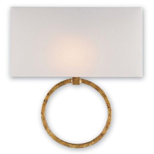 Porthole Gold Wall Sconce