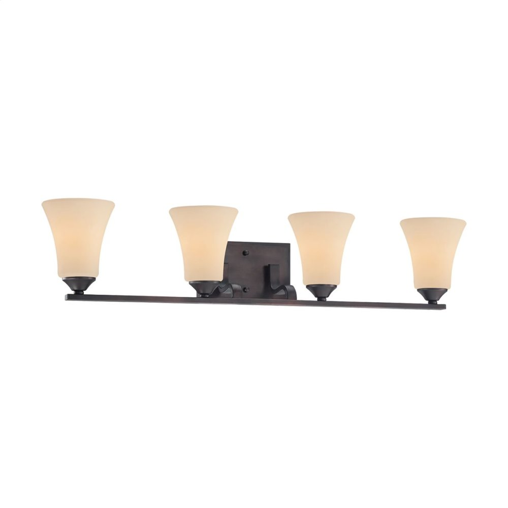 Treme 4-Light Wall Lamp in Espresso