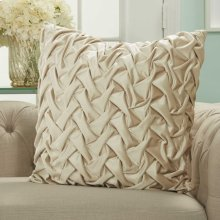 "Life Styles L0064 Beige 22"" X 22"" Throw Pillows"