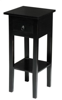 CC-TAB1792LD-AB  Cottage Narrow Side Table  Distressed  Antique Black