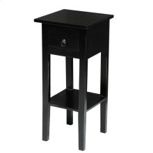 CC-TAB1792LD-AB  Cottage Narrow Side Table  Distressed  Antique Black