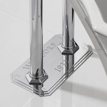 Waldorf Floor Plate for Pillar Legs - Polished Chrome