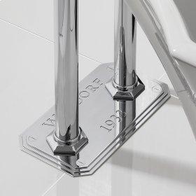 Waldorf Floor Plate for Pillar Legs - Polished Chrome
