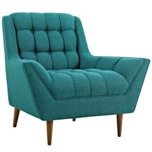 Response Upholstered Fabric Armchair in Teal